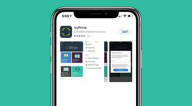 Download myPrivia App - Telehealth Provider