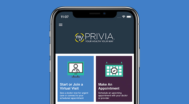 myPrivia App Features
